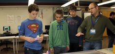Maglev Cars Middle School   Gateway to Technology students race maglev creations