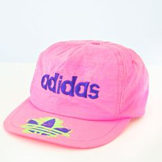 vintage 80s NEON pink ADIDAS snapback by PasseNouveauVintage 6707840e2aa