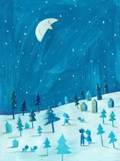 The Artfully Walls Kids Boutique is Now Open! Come and take a look! Man in the Moon by Jenny Meilhove on Artfully Walls