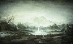 """The Valley of Shadows"" by Yaroslav Gerzhedovich  tempera on paper"