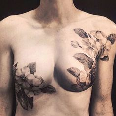 October is Breast Cancer Awareness Month - Tattoo Artist David Allen, Beautifully Conceals Scars of Breast Cancer Survivors, story by Alice Yoo, May 4, 2015.  Years ago, tattoo artist David Allen was approached by a client with an unusual request. Adriana had fought breast cancer and won, but she had to undergo a mastectomy and breast reconstruction. She asked Allen to conceal the scarring left on her breast using his skills as a tattoo artist. What followed was a journey for both Adriana…