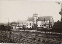 Amersfoort<br />Amersfoort: Phoenix Brouwerij aan het Smallepad, gezien vanaf het spoorweg emplacement. Links de ijsfabriek (1917)