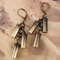 ANNIE OAKLEY - 22 Bullet Shell Cartridge Casings Cascade Earrings. 29.00, via Etsy.