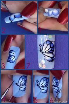Beautiful Butterfly nail art tutorial More