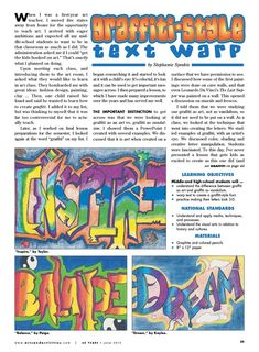 Middle School Art Lesson (example) - Graffiti Name Drawings - From ...