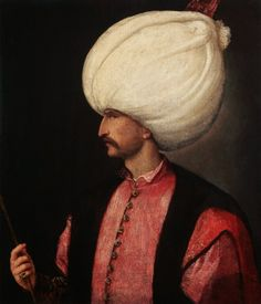 A copy of Titian's portrait of Suleiman the Magnificent from about SULEIMAN THE MAGNIFICENT Ottoman Empire (now Turkey). Military and political leader.Sultan of Ottoman Empire from 1520 to enlarged and strengthened empire. Empire Ottoman, Die 100, Istanbul Travel, Muslim Men, Important People, Hand Painting Art, 16th Century, Hungary, India
