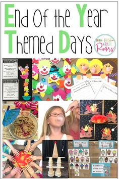 Themed Days: End of the Year Activities that will Engage and Motivate End Of Year Activities, First Grade Activities, Word Work Activities, End Of Year Party, End Of School Year, School Fun, Summer School, Primary School, Kindergarten Themes