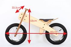Balance bike. Wooden runbike no pedals bicycle by BalanceBike