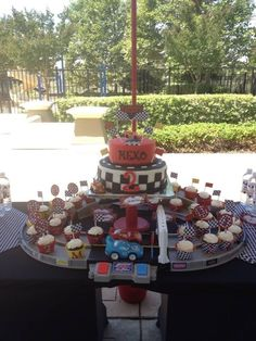 Cool Cars themed birthday party! This site has tons of other ideas!