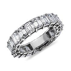 eternity ring with 6 ct of emerald cut diamonds.... very striking