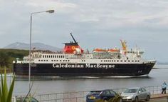 Believe it or not this is a common sight from the front of our guest house.  Calmac ferries sail to the Isle of Mull several times a day.