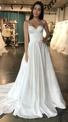 Wedding Dresses With Straps, Dream Wedding Dresses, Bridal Dresses, Wedding Gowns, Prom Dresses, Vestidos Sexy, The Dress, Dream Dress, Bridal Collection