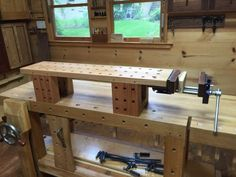 Based on FWW article by Steve Latta. I highly suggest anyone over age 40 build o. Based on FWW article by Steve Latta. I highly suggest anyone over age 40 build one. Small Workbench, Portable Workbench, Workbench Plans, Woodworking Workbench, Fine Woodworking, Woodworking Projects, Garage Workbench, Woodworking Software, Welding Projects