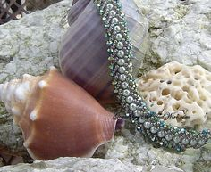 Northern Lights Swarovski Bracelet | GemsCrystalsAndWire - Jewelry on ArtFire