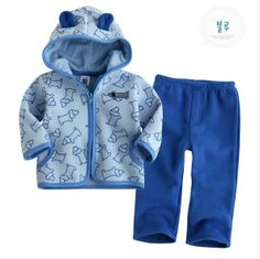 Blue boy suit with little dog, purple girl suit with lovely heart/ Kid sets: top + pants/ Made of woolen for babies to keep warm on AliExpress.com. $16.90