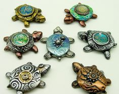 Steampunked turtles by Tina Holden