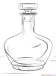 Comment dessiner une bouteille | étape par étape tutoriels de dessin