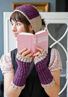 KNIT-Headband & Fingerless Gloves, Berroco® Free Pattern | Huxley