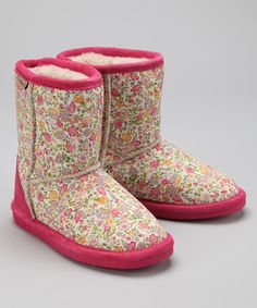 Take a look at this Hot Pink Ivy Boot - Kids by BEARPAW on #zulily today!