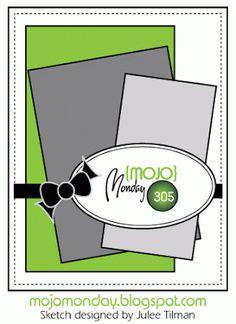Mojo Monday #305 Card Sketch Designed by Julee Tilman #vervestamps #mojomonday #cardsketches