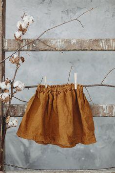Linen Skirt Mustard Skirt for Girls Washed Linen Baby Linen Linen Skirt, Linen Dresses, Linen Blouse, Girls Tunics, Girls Dresses, Mustard Skirt, Toddler Skirt, Skirts For Kids, Clothing Photography