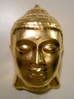 Gold leaf hand casted selling now at store Southampton NY main St. Buddha Canvas, Healing Meditation, Southampton, Gold Leaf, Canvas Art, It Cast, Skull, Clay, Store