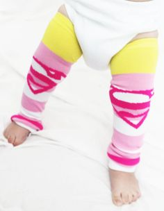 Baby to Toddler Supergirl Baby Leg Warmers with Capes, Halloween Costume, Dress Up, Super Girl, Superman on Etsy, $15.00