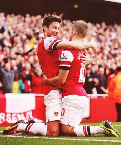 Giroud and Wilshere ARS v NOR 19.10.13 4-1