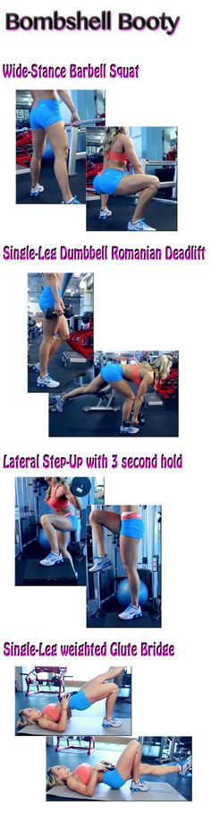 The Bombshell Booty Workout -- Give yourself a lift and tone. Don't let the cold weather keep you from looking good in those jeans. Get more workouts: www.flaviliciousfitness.com #ButtWorkout #Glutes #Exercise