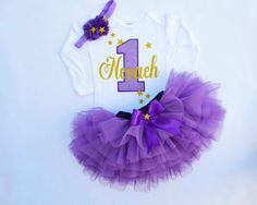 First Birthday Outfit GirlHigh Chair BannerCake by KidsFunLand