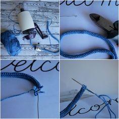 Come fare scritte con il tricotin • La soffitta di Serena Amigurumi, Spool Knitting, Ideas