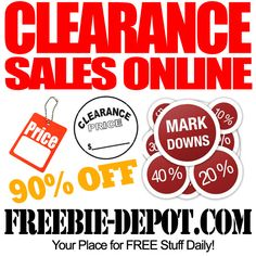 You can find amazing clearance deals online by checking websites and also following bloggers, they are usually pretty on top of things.