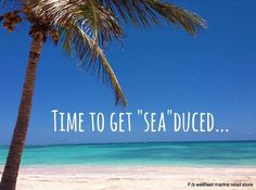 """Time to get """"Sea"""" Duced. - Quotes - : Time to get """"Sea"""" Duced. Beachy Quotes, Sea Quotes, Beach Quotes And Sayings, Summer Beach Quotes, Beach Day, Vacation Quotes, Travel Quotes, Vacation Captions, Beach Captions"""