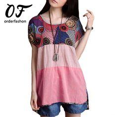 MAKIYO femmes shirt tops blouse Chemisier en coton paillettes