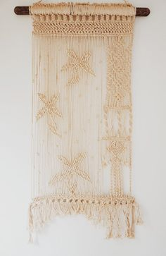 Vintage Macrame Wall Hanging Handmade by ForesterCollective