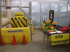 Construction site role-play area