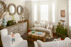 cozy living room | House of Turquoise: Found Vintage Rentals