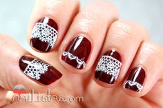 nail art de uñas decoradas con encaje // Cabaret