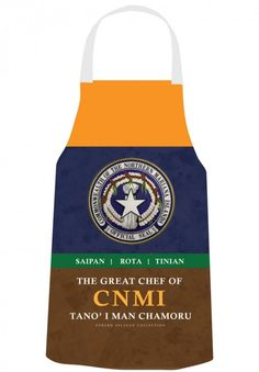 Gerard Aflague Collection Store - Chef's Apron - CNMI Seal Design - Chamorro, $26.99 (http://www.gerardaflaguecollection.com/chefs-apron-cnmi-seal-design-chamorro/)