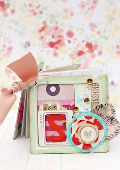 Christine Middlecamp 'Park Day' Mini Album for Crate Paper II - INCREDIBLE mini album