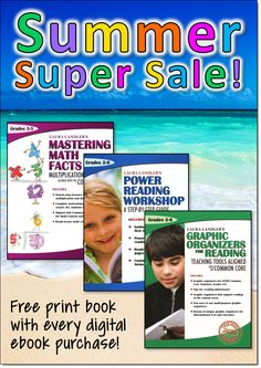 Special digital/print offer on Laura Candler's Power Reading Workshop, Graphic Organizers for Reading, and Mastering Math Facts. Buy the digital version and get the PRINT version for free!
