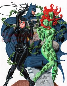 Batman, Catwoman and Poison Ivy
