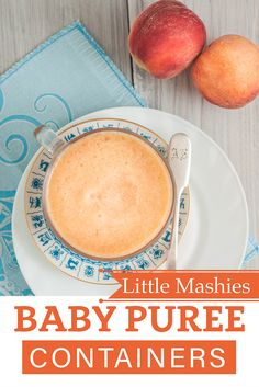 Little    Mashies Peach Puree - Little Mashies baby food pouches www.littlemashies.com