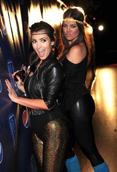 Kim and Khloe