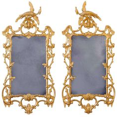 A Pair of George III Giltwood Mirrors   From a unique collection of antique and modern wall mirrors at http://www.1stdibs.com/furniture/mirrors/wall-mirrors/