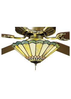 "12""W Jadestone Carousel Fan Light Fixture"