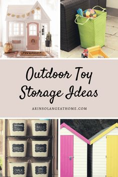 Outdoor Toy Storage Ideas All Moms Will Love - arinsolangeathome Organizing Life, Toy Organization, Kids Storage, Storage Ideas, Outdoor Toy Storage, Outdoor Toys For Kids, Toy Boxes, Toy Store, Play Houses