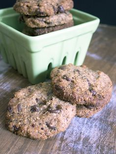 Rich, moist and packed with flavour cookies. Gluten free and vegan friendly.