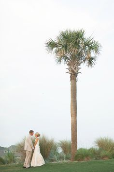 Newlyweds under Sabal Palm! BHI is one of the northernmost places with natural sabal palms... the Florida Palm Growers Association even comes to BHI to collect seeds!
