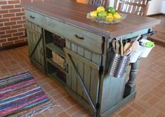 New kitchen renovation pictures for your kitchen,kitchen cart with stools rustic country kitchen ideas,rustic italian kitchen rustic kitchen mohegan sun reservations. Farmhouse Kitchen Island, Rustic Kitchen Cabinets, Primitive Kitchen, Kitchen Redo, New Kitchen, Kitchen Islands, Kitchen Layout, Kitchen Storage, Kitchen White